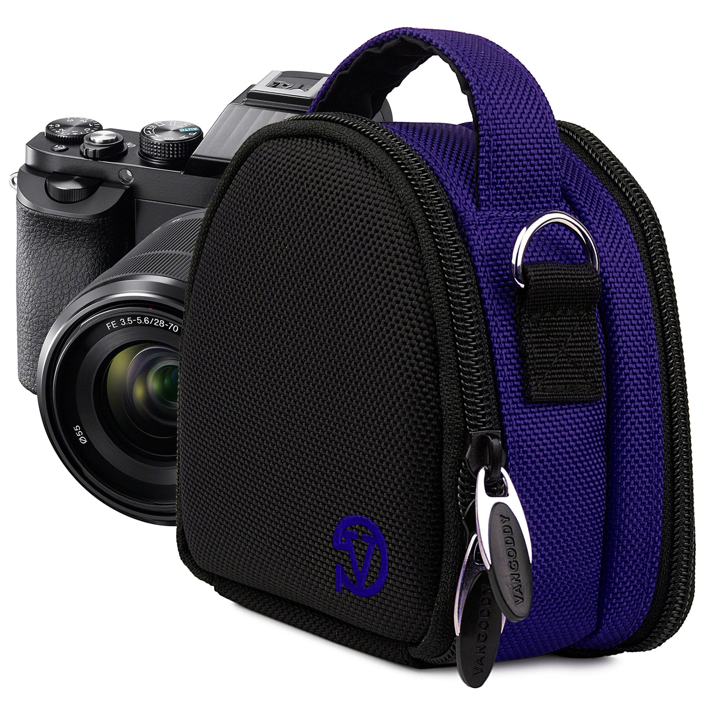 VanGoddy Compact Mini Laurel Navy Blue Camera Pouch Cover Bag fits Canon PowerShot G7 X, N100, N Facebook, SX600, SX260, S120, S110 HS