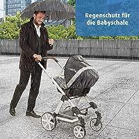Regnskydd för barnvagnar, babyskål, buggy och sportbil från hjul Regenschutz für Babyschale - DesignLine
