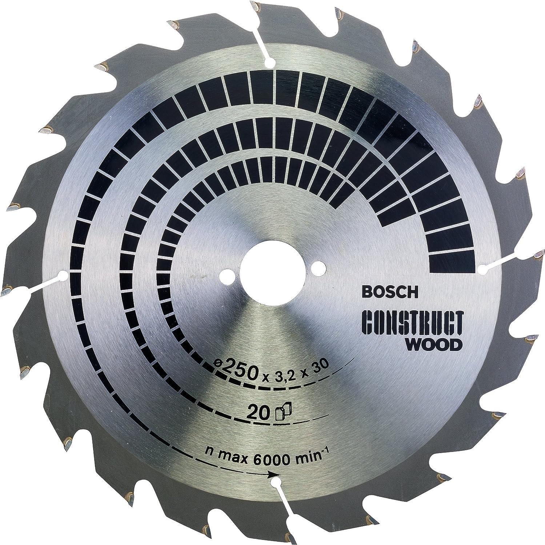 Bosch 2608641774 Lame de scie circulaire Construct Wood 20 dents 250 x 30 x