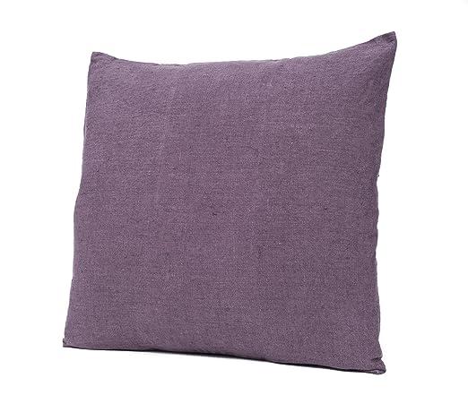 Harmony - Funda de cojín propriano - 100% lino color ciruela ...