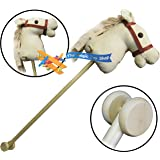 Cuddles Time Beige Cord Hobby Horse with Sound.