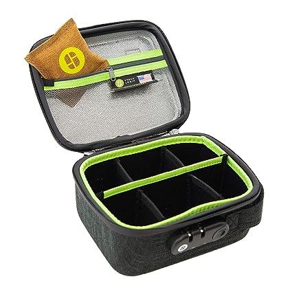 0dba42c0ce09 Amazon.com  STASHLOGIX Silverton - Locking Stash Bag with Odor ...