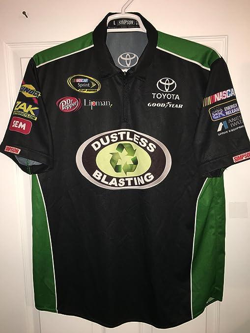 LARGE BK Simpson Racing Dustless Blasting Pit Crew Shirt Nascar