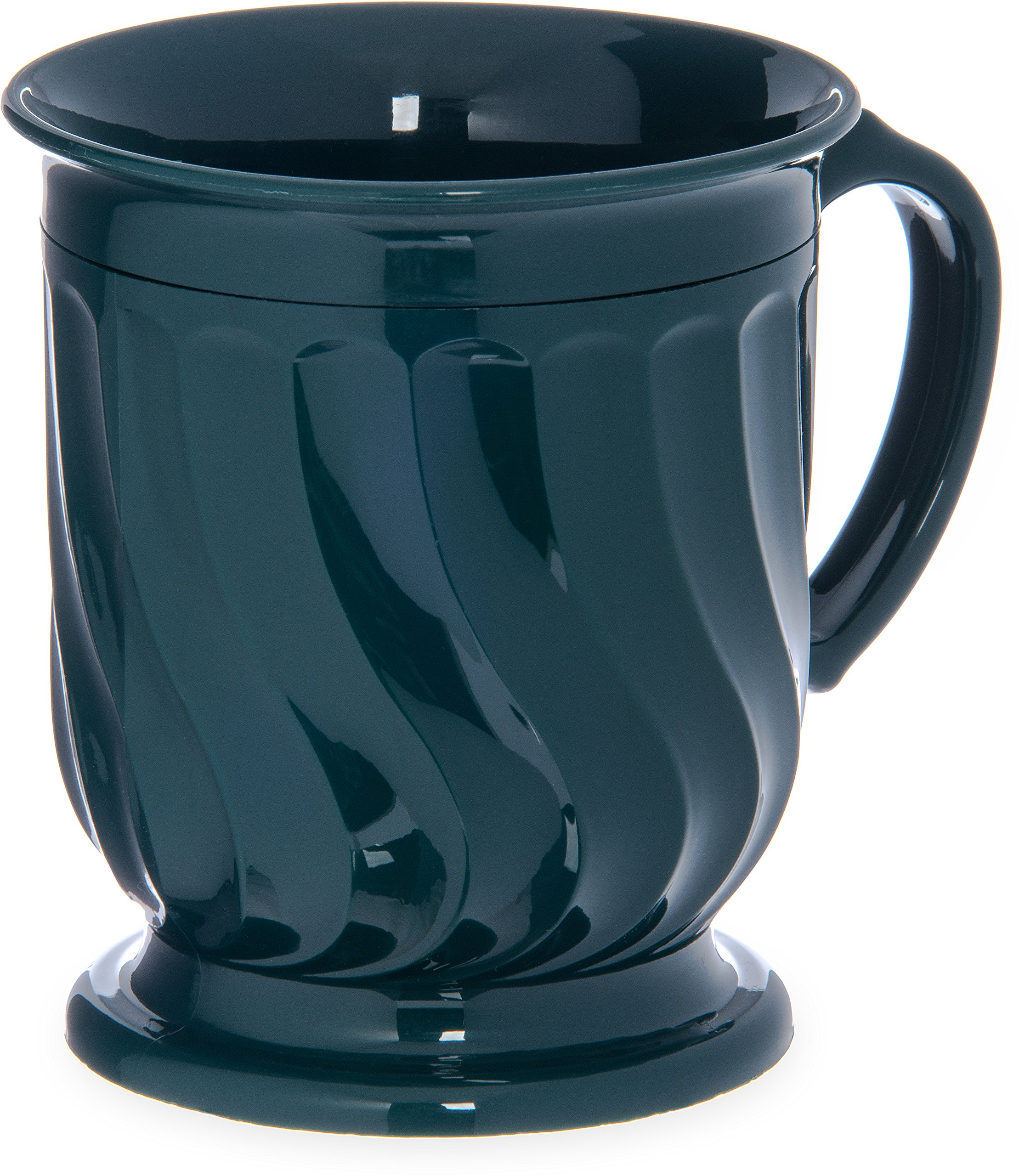Dinex DX300008 Turnbury Insulated Pedestal Base Mug, 8 oz., 4'' Height, 3.5'' Width, 3.5'' Length, Urethane Foam, Hunter Green (Pack of 48)