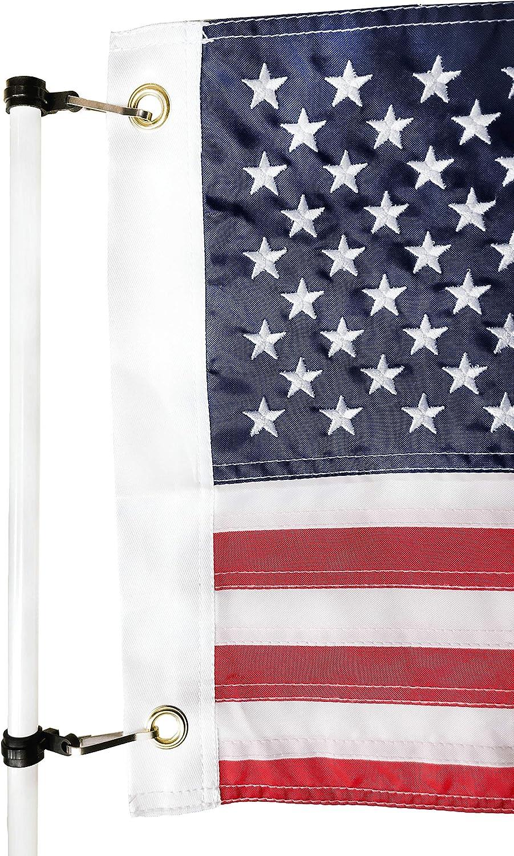 Zammi - Pinzas universales para Bandera de Barco, para Barras de Bandera, Luces de esternón, pontones y Biminis (1/2