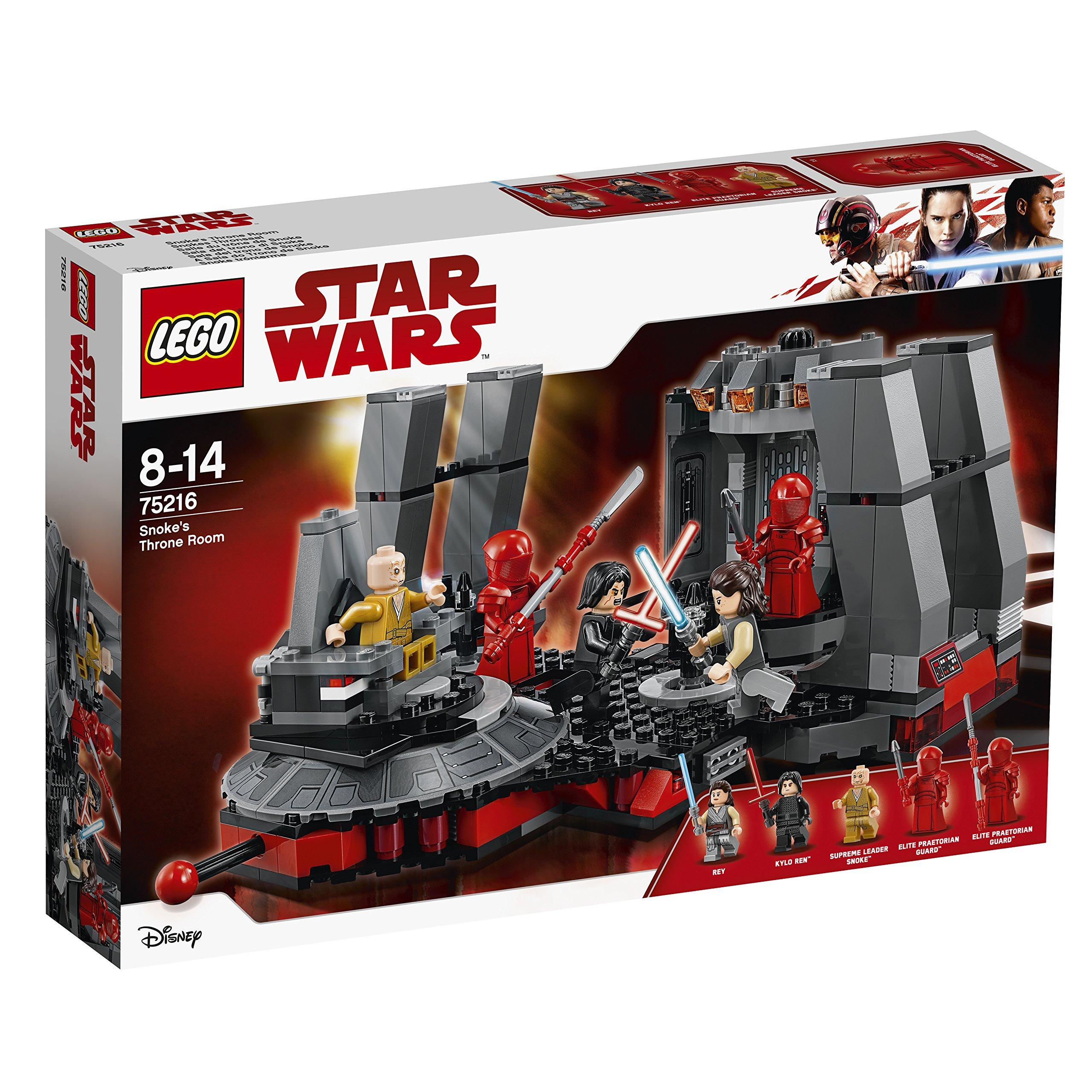 Lego 75216 Star Wars Rey Kylo Ren Supreme Leader Snoke And 2 Elite Praetorian Guards Minifigures Building Set Buy Online In Aruba At Desertcart Productid 69847320
