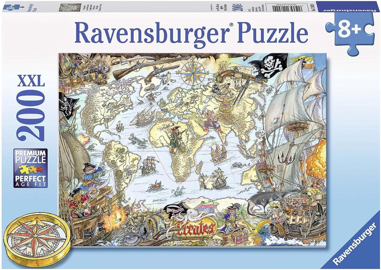 Ravensburger - Puzzles 200 Piezas XXL, diseño El Mapa de los Piratas (12802 0): Amazon.es: Juguetes y juegos