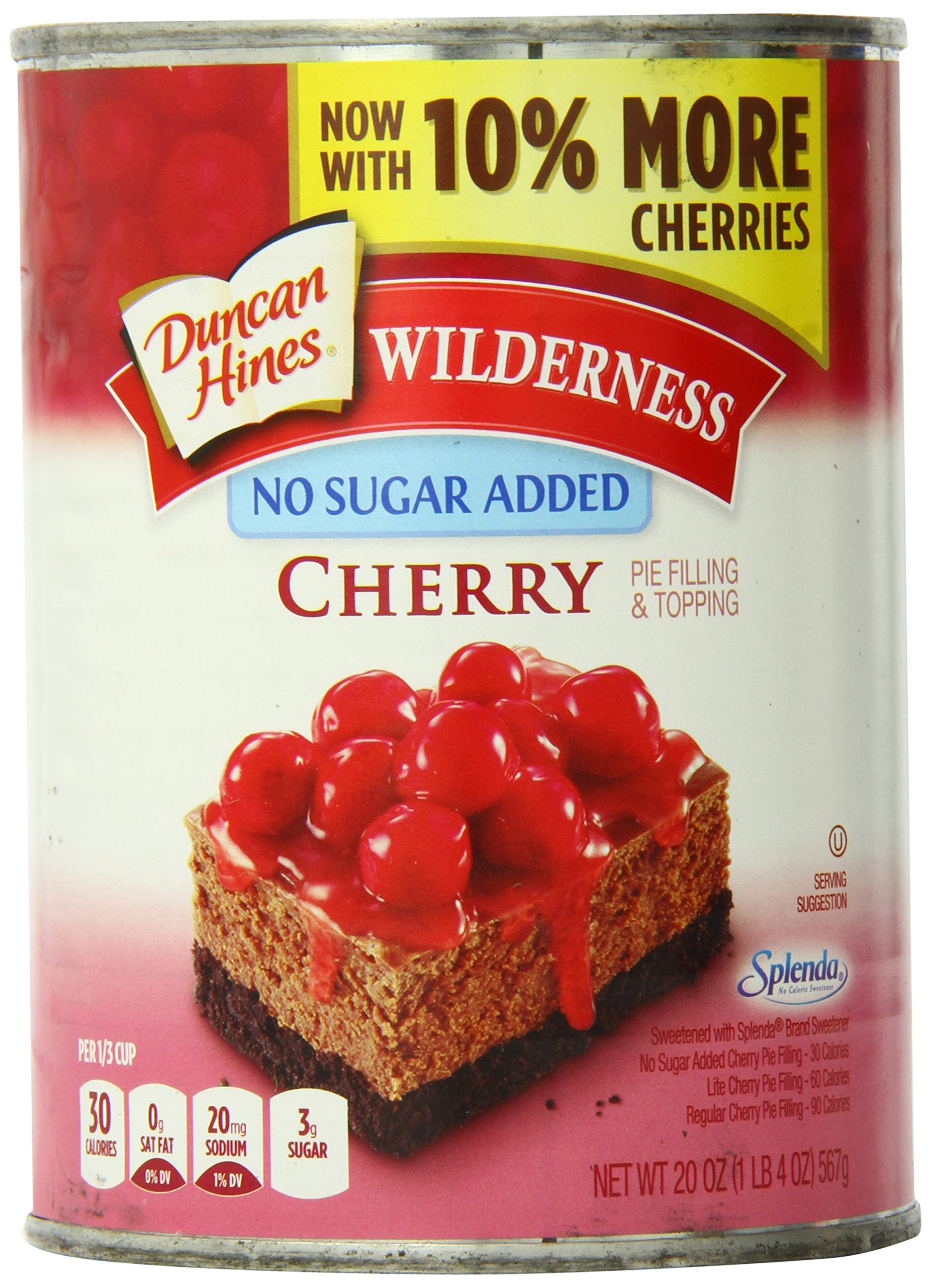 Wilderness No Sugar Added Pie Filling & Topping, Cherry, 20 Ounce (Pack of 12) by Wilderness (Image #1)