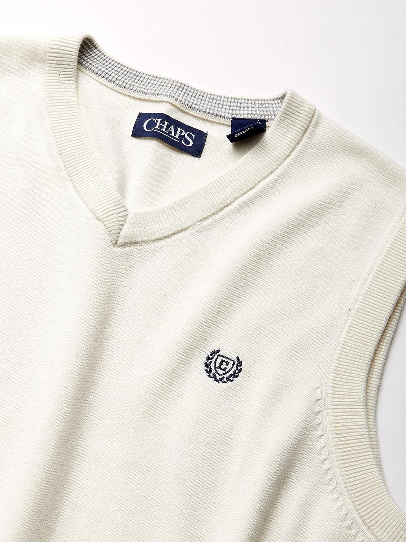 Chaps Mens Cotton V-Neck Sweater Vest