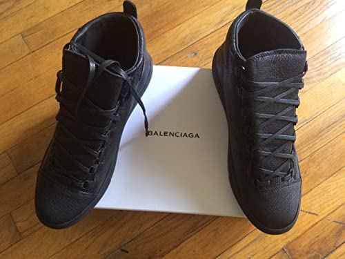 Balenciaga Mens Sneaker Pelle S.Gomm Croute Poil Long Suede Back Blue Suede  Fashion 548e25cdef3