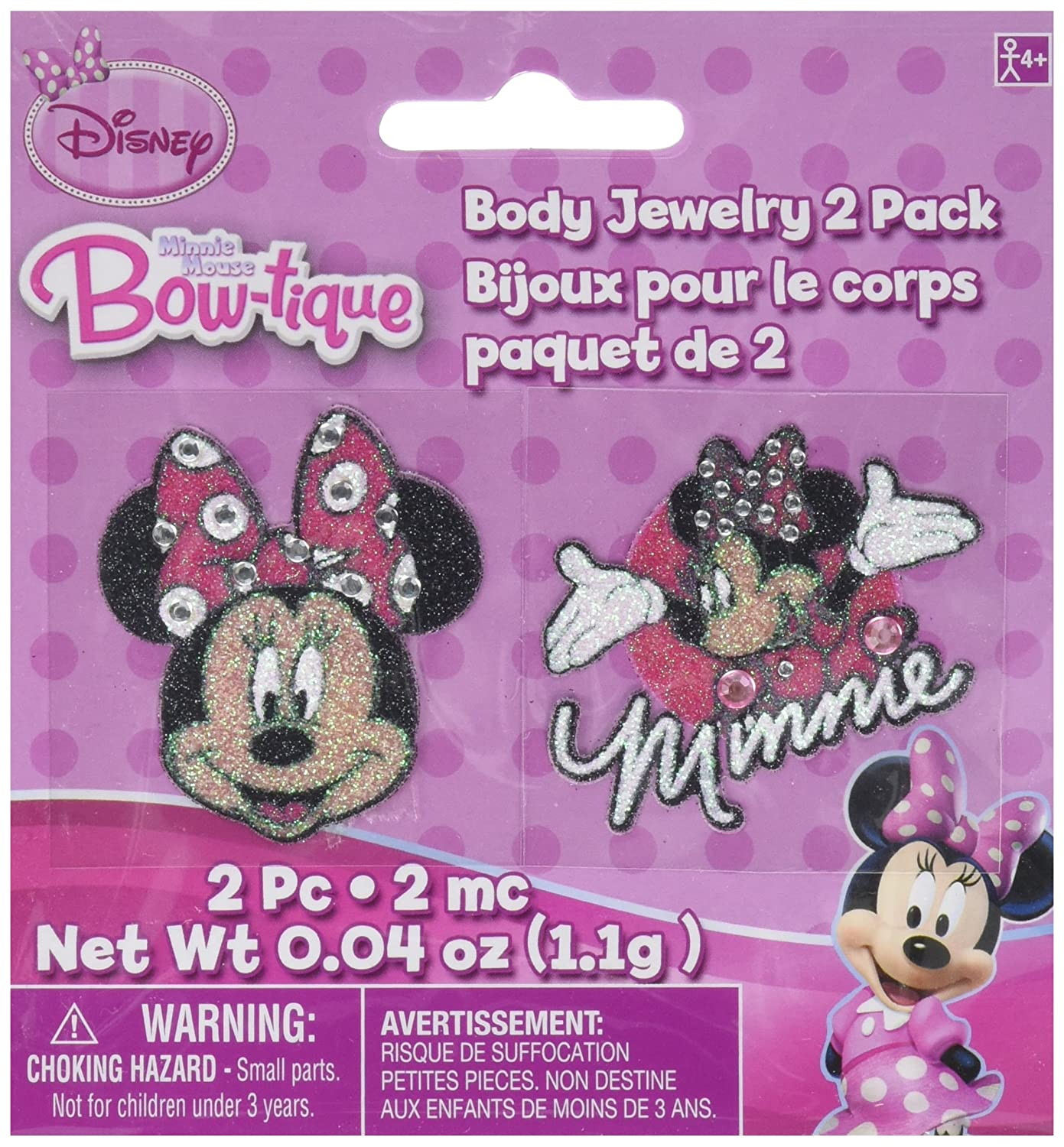 Body Jewelry   Disney Minnie Mouse Collection   Party Accessory   12 Ct.