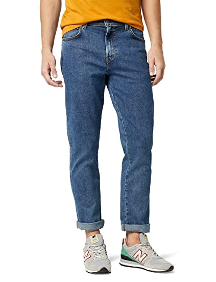 03001b1b Wrangler Men's TEXAS - CONTRASTS Straight Fit Jeans, Blue (Stonewash  010),30W