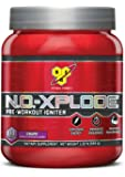 BSN N.O.-XPLODE Pre-Workout Supplement with Creatine, Beta-Alanine, and Energy, Flavor: Grape, 30 Servings