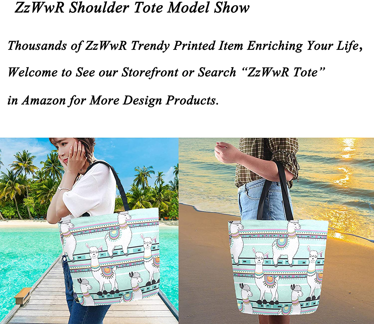 ZzWwR Beautiful Peacock Flowers Pattern Extra Large Canvas Shoulder Tote Top Storage Handle Bag for Gym Beach Weekender Travel Reusable Grocery Shopping