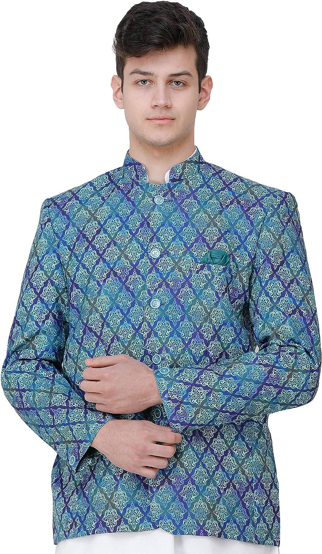 Exotic India Clematis-Blue Blazer con Motivos Estampados ...