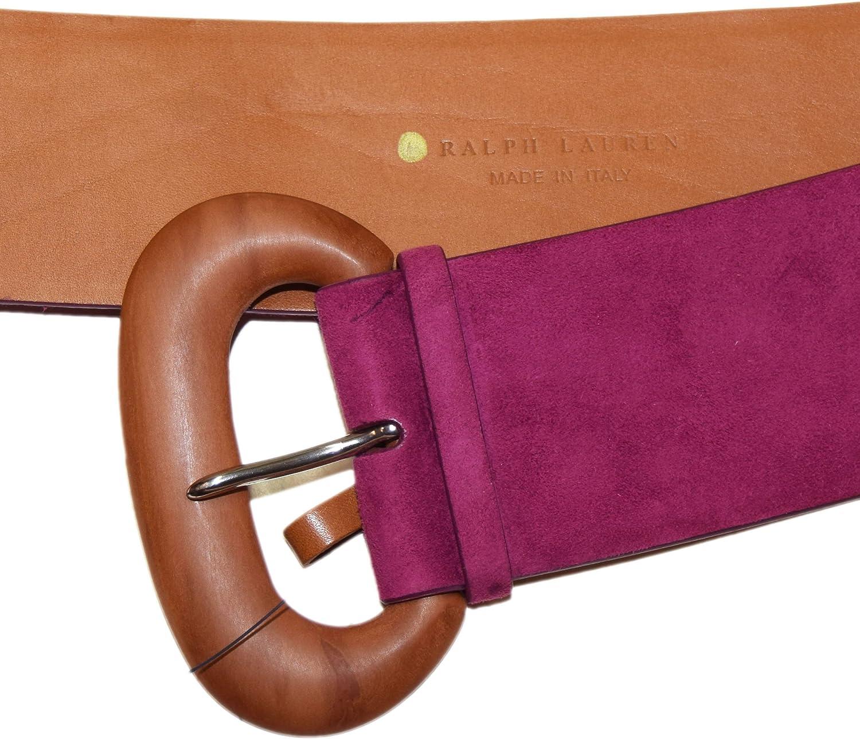 Ralph Lauren Polo Collection - Cinturón de piel de ante para mujer ...