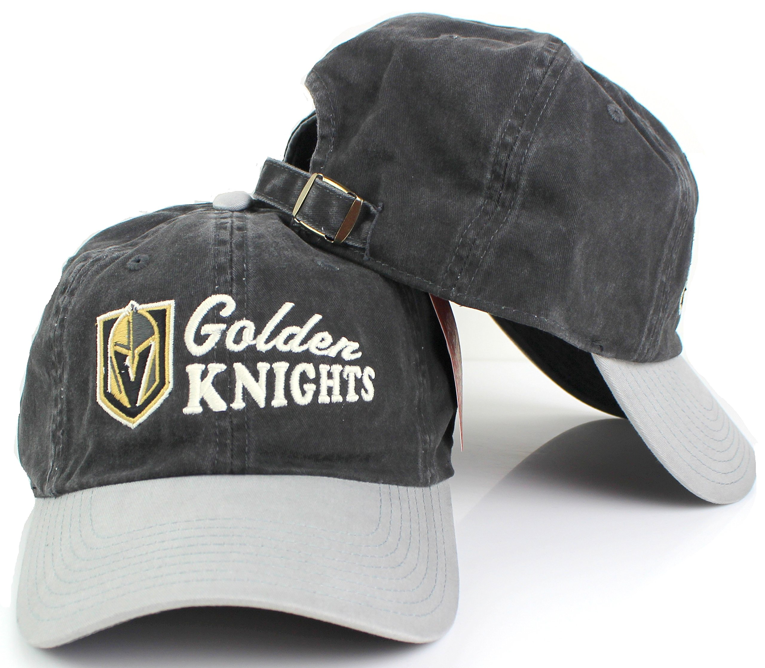 bda30faa29c Vegas Golden Knights Dyer Washed Slouch Adjustable Dad Hat – Vegas ...