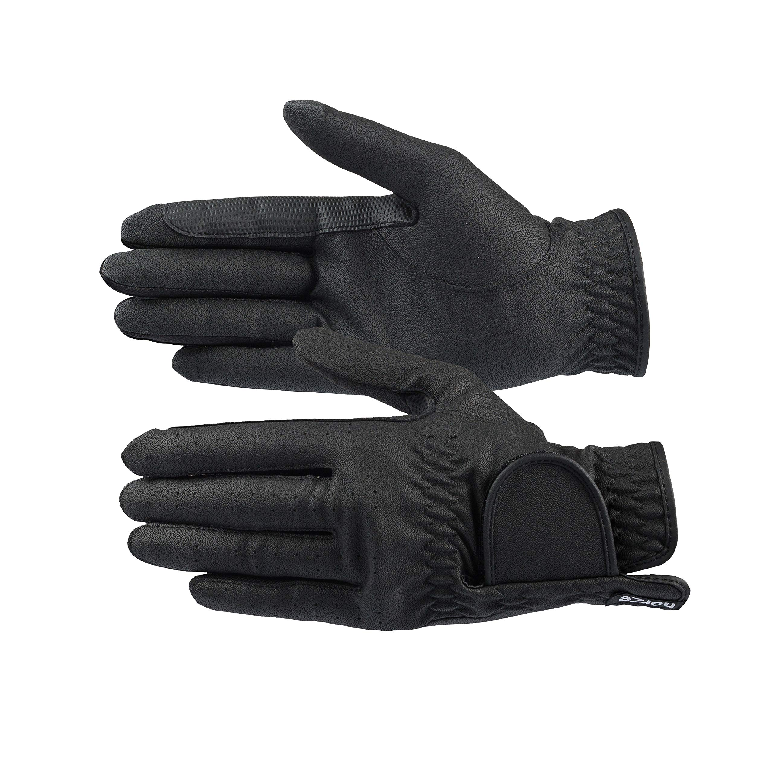 Horze Eleanor PU-Leather Gloves - Black - 7
