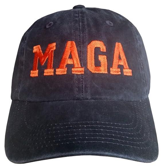 Amazon.com  MAGA Black Orange ~ Make America Great Again HAT ... b91302a676c
