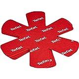 Tefal Pack de 4 protectores de ollas y sarténes, Tela, Rojo, 38x36x0.15 cm