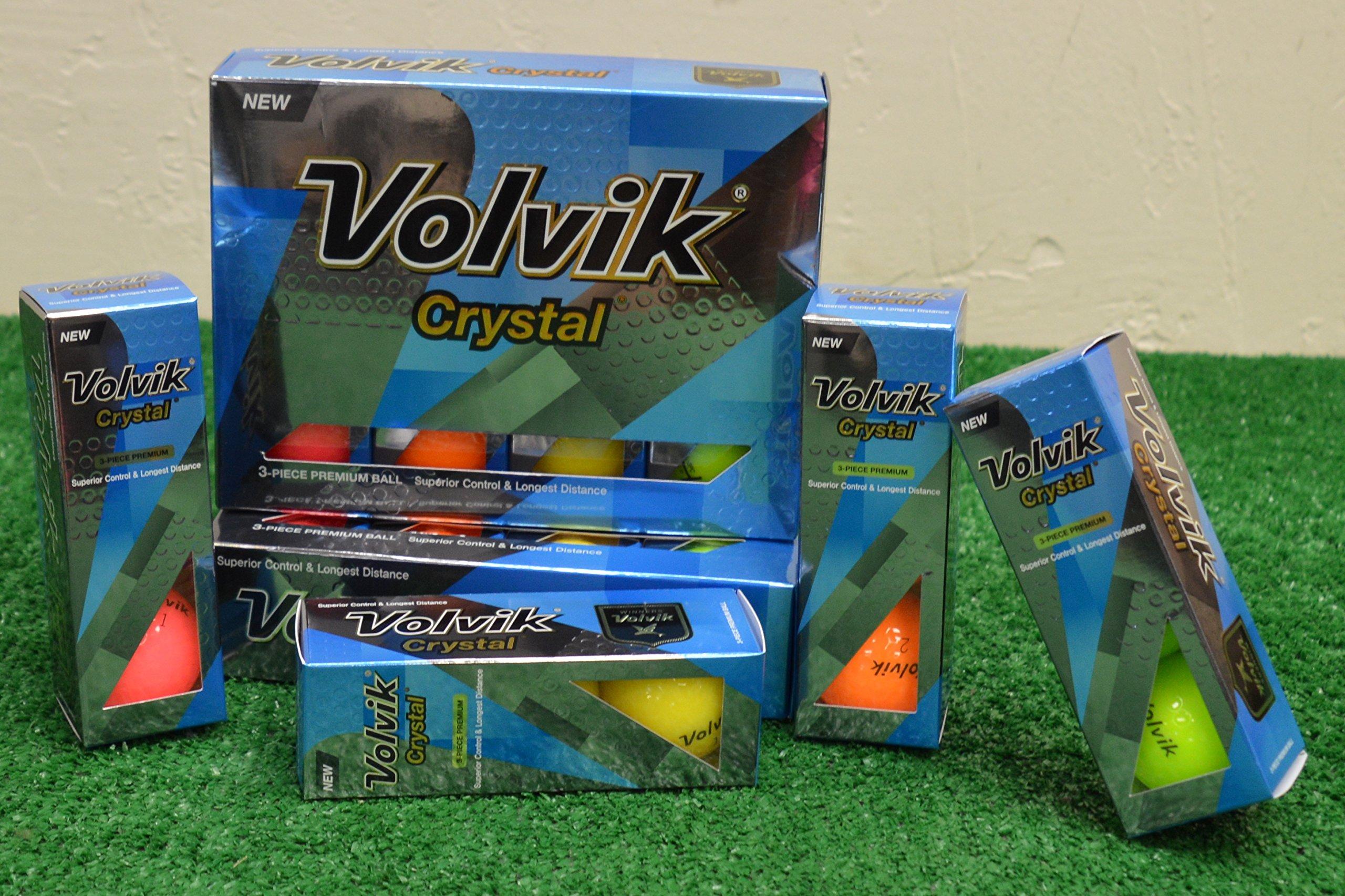 3 Dozen Volvik Crystal Mixed Color Golf Balls - New in Box