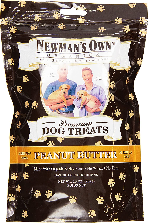 Newman's Own Organic Dog Treats, Medium Sized, Peanut Butter, 10 oz