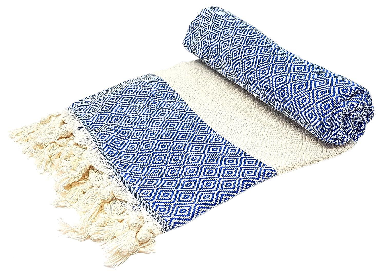 Elmas, asciugamano per sauna e da spiaggia, Fouta in cotone da 100 x 180 cm, 100% cotone, Orange, 100 x 180 cm Bella Casa