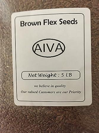 Aiva de semillas de lino 5 lb: Amazon.com: Grocery & Gourmet ...
