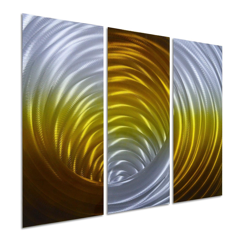 Amazon.com: Pure Art Vortex in Gold - Abstract Metal Wall Art ...