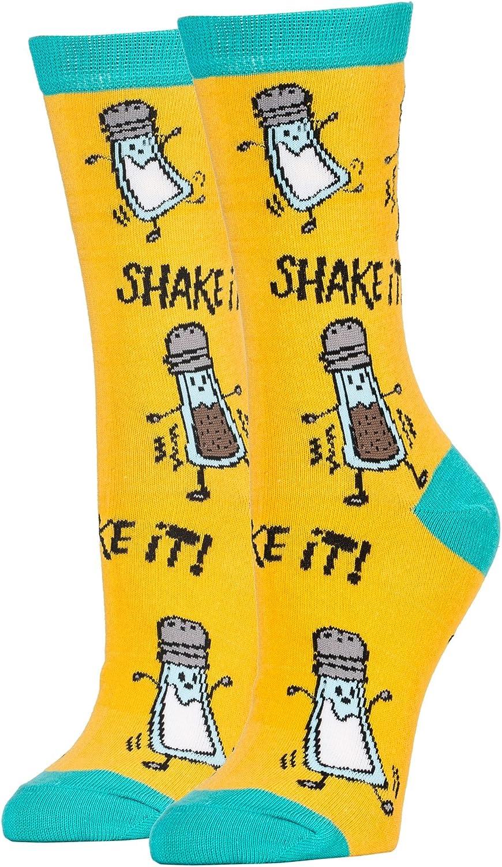 Women's Novelty Crew Socks, Oooh Yeah Funny Crazy Fun Cool Socks, Office Dress Casual Socks