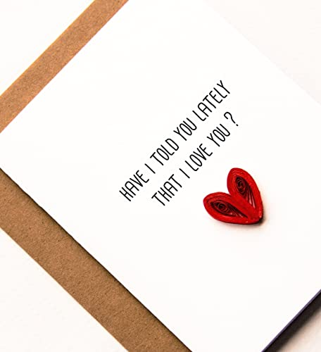 Amazon I Love You Card For Husband Wife Boyfriend