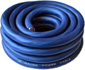 Power ground cable amazon soundbox connected 0 gauge blue amplifier amp powerground 10 wire 25 feet greentooth Image collections