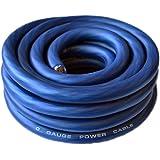 SoundBox Connected 0 Gauge Blue Amplifier Amp Power/Ground 1/0 Wire 25 Feet SuperFlex Cable 25'