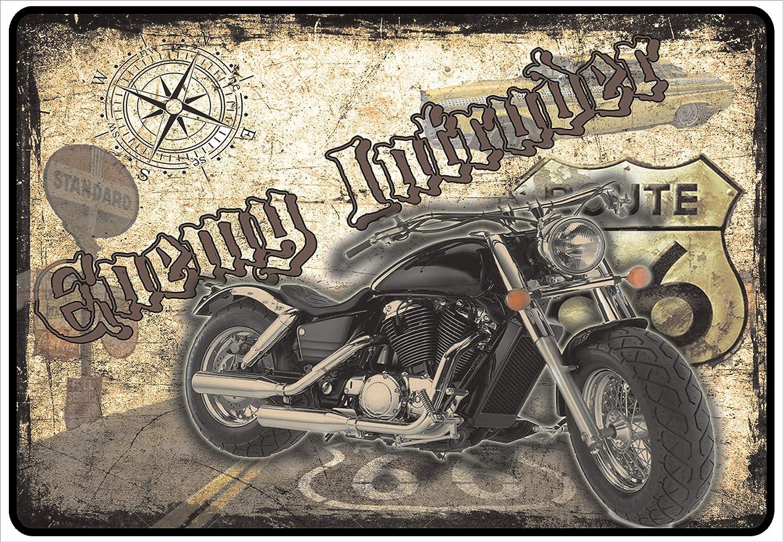 Netspares 139880271/ Schild Hinweisschild Hinweis Enemy Intruder Biker Chopper Hellbike Life