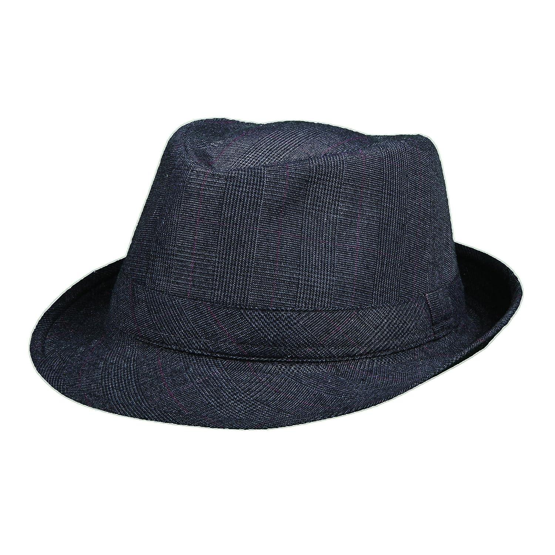 e3e7cea1d533a Dorfman Pacific Plaid Fedora Hat (S M) at Amazon Men s Clothing store