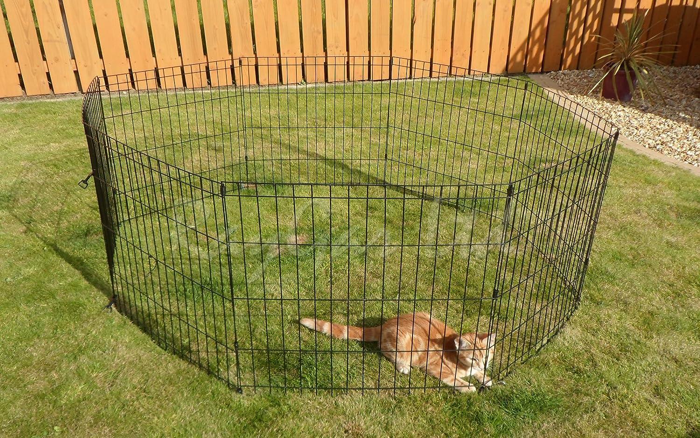 raygar medium 8 piece indoor outdoor dog cat rabbit puppy pen cage whelping pen fence run exercise playpen 61x76cm new amazoncouk pet supplies