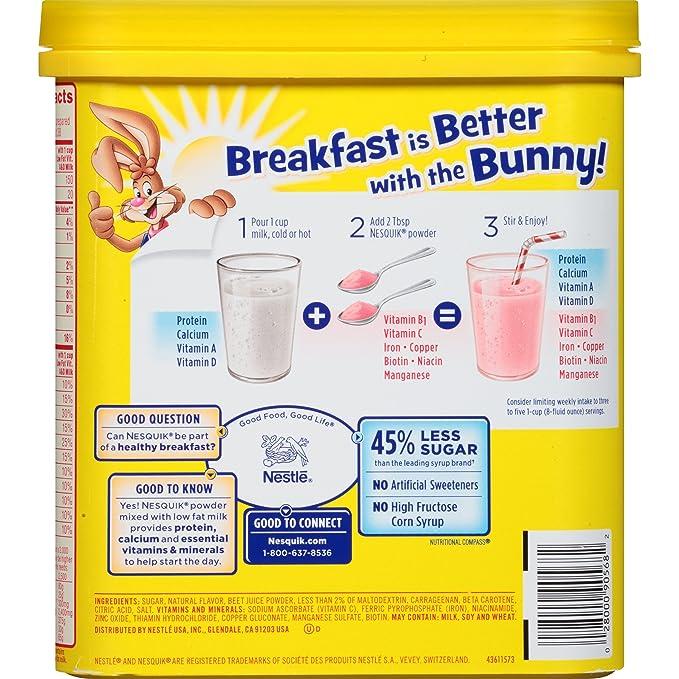 Nesquick - Polvo aromatizado - fresa - 16 onzas: Amazon.es: Alimentación y bebidas