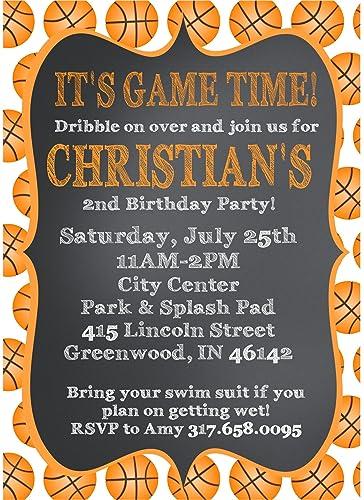 Amazon basketball birthday party invitations handmade basketball birthday party invitations filmwisefo