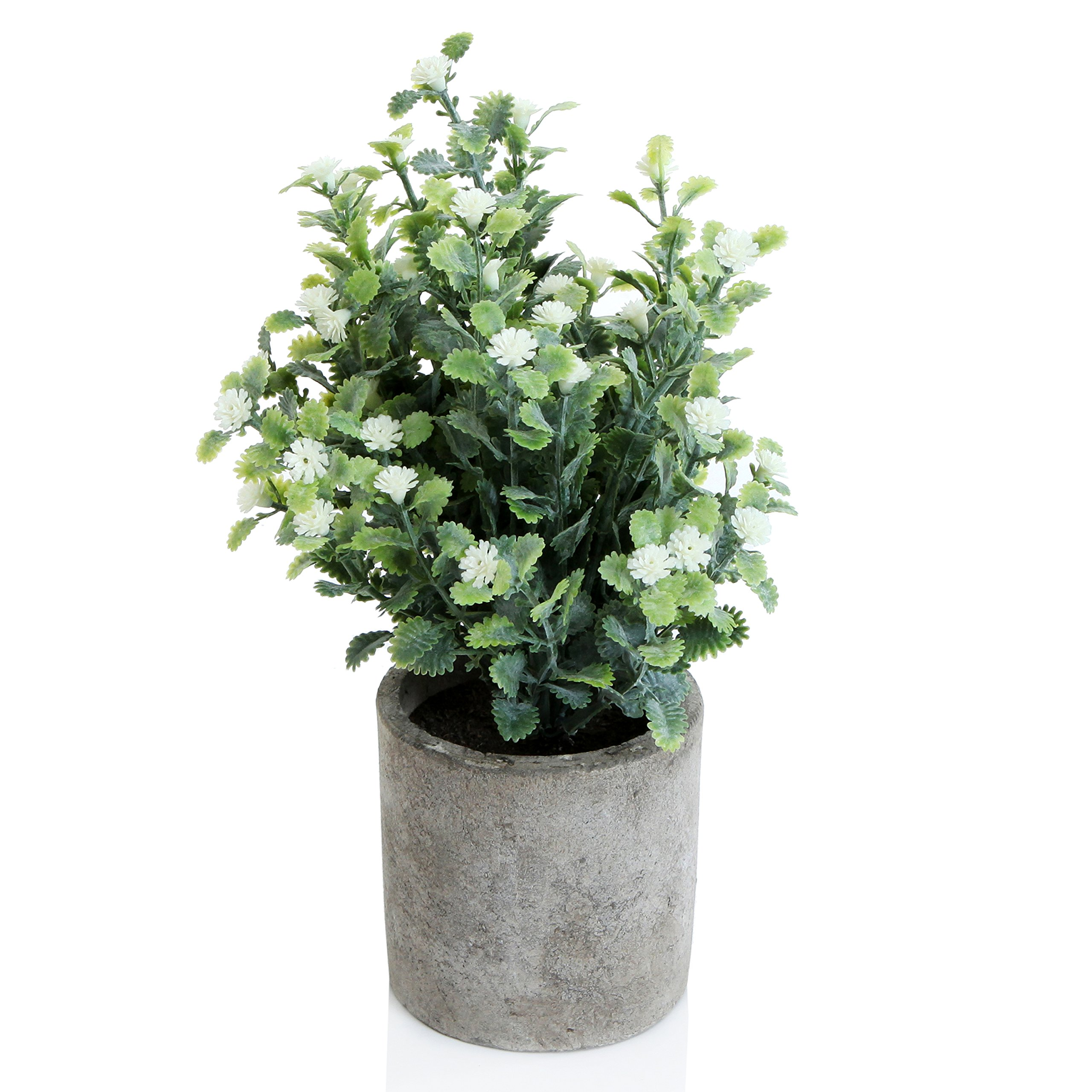 Decorative Small Artificial Potted Grass Pea White Flower Plants