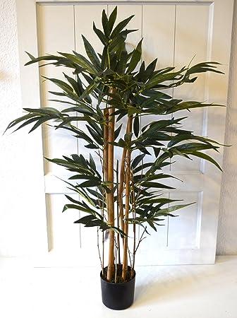Bambus Im Topf Kunstbaum Baum Pflanze Grun Deko Echtholzstamm