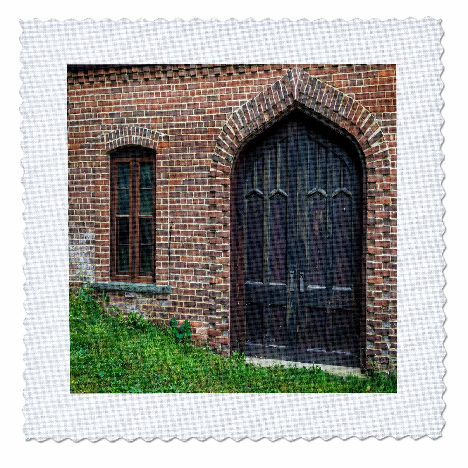 3dRose Roni Chastain Photography - Window and Door - 12x12 inch quilt square (qs_269609_4)