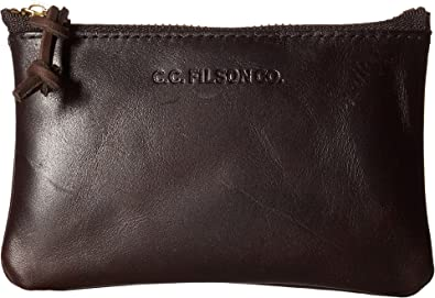 629722490a1c Amazon.com: Filson Unisex Small Leather Pouch Brown One Size: Shoes