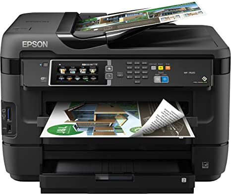 Epson WorkForce WF-7620 Wireless Color All-in-One Inkjet Printer with Scanner and Copier, Amazon Dash Replenishment Enabled