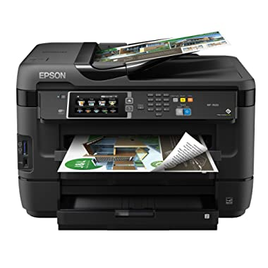 EPSON (C11CC98201) WorkForce WF-7610 Wireless Color All-in-One Inkjet Printer with Scanner and Copier, Amazon Replenishment Enabled