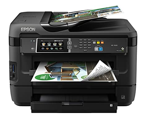Epson WorkForce WF-7610 Wireless Color All-in-One Inkjet Printer with Scanner and Copier, Amazon Dash Replenishment Enabled