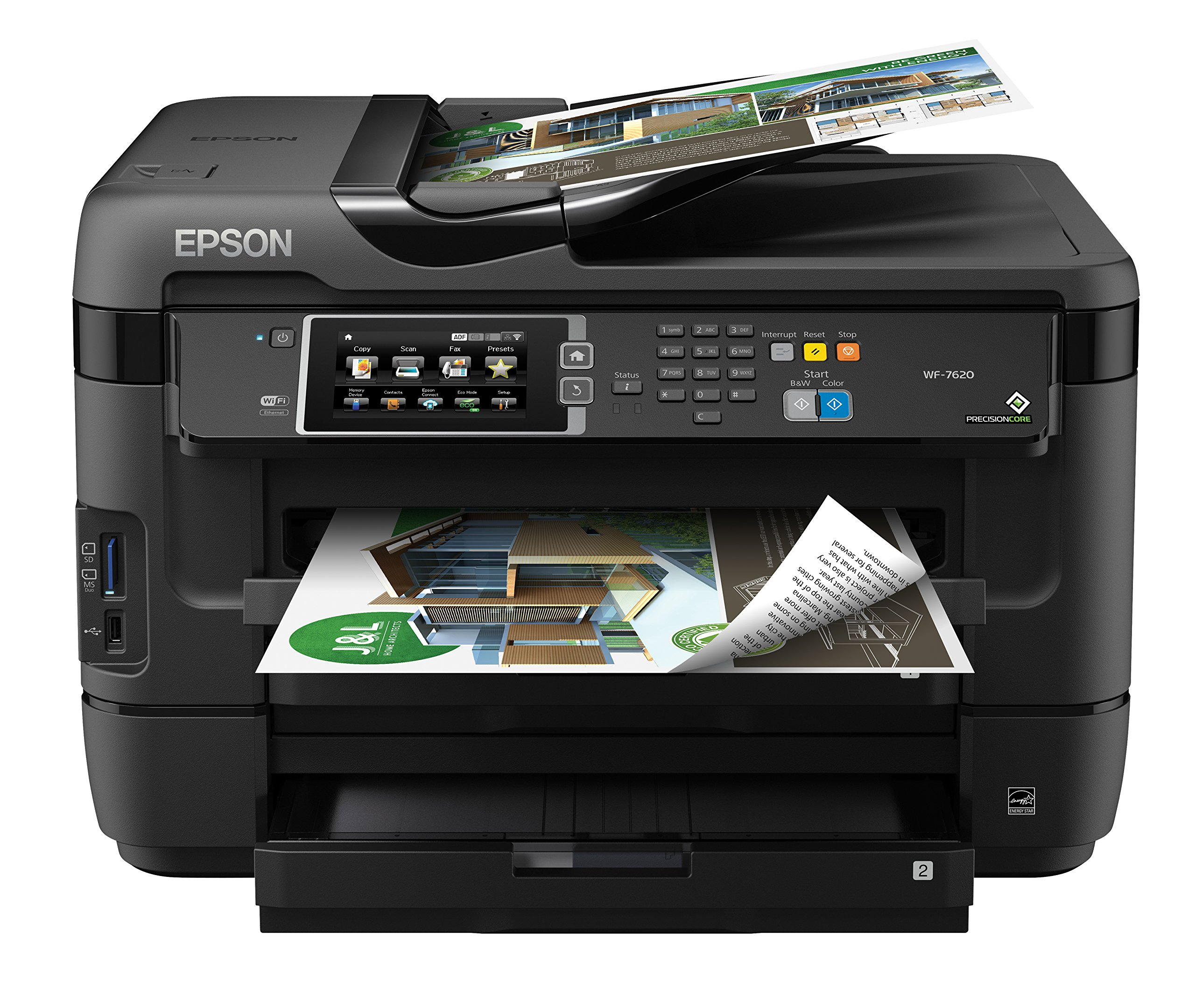 Epson WorkForce WF-7610 Wireless Color All-in-One Inkjet Printer with Scanner and Copier by Epson