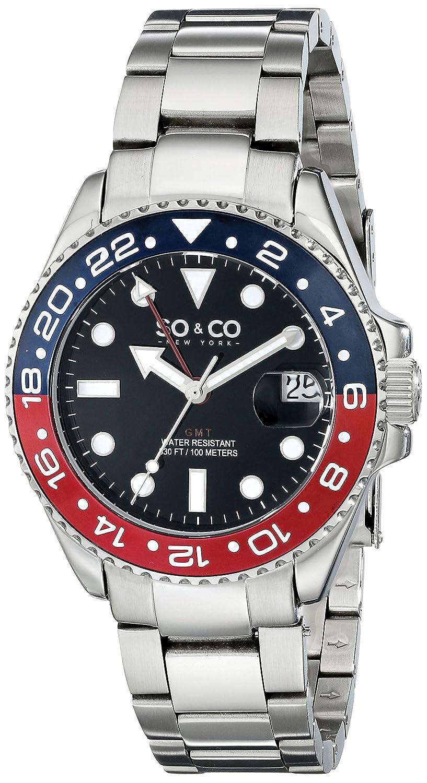 SO & CO New York Herren-Armbanduhr Yacht Club Analog Quarz Edelstahl 5021.2