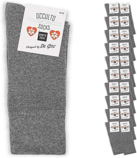 Calzini sanitario per diabetici senza elastico senza cuciture Nero Uomo Diabetici