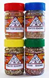 """Paleo - Whole 30 - Spices by PALEO LIVING PRIMAL BLENDS Collection {4-Combo Pack Jars Seasonings Set} can be used for Cooking, Grilling, Baking, & with Cookbooks (Limited Edition Set """"Original"""")"""
