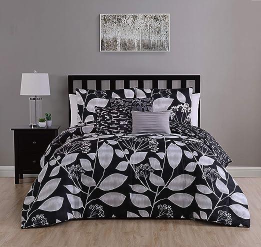 Geneva Home Fashion Laken Bed in a Bag Queen Black